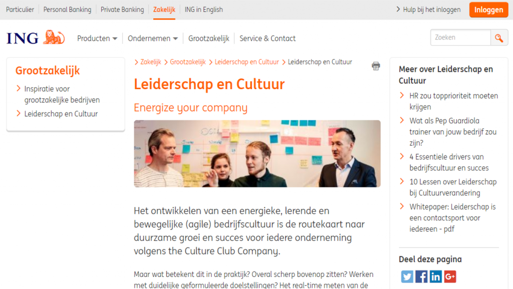 ING gaat partnership aan met The Culture Club Company.